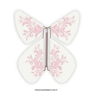 Magic Vlinder Baroque Pastel Pink copyright sendyouhappiness.com