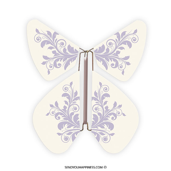 Magic Vlinder Baroque Pastel Purple copyright sendyouhappiness.com
