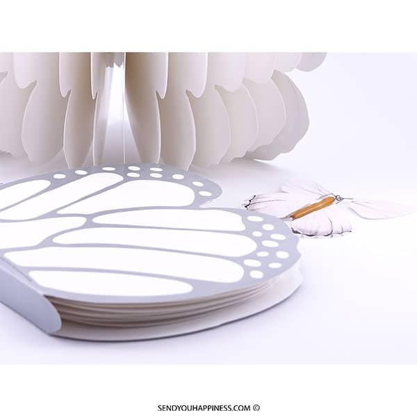 Vlinder Butterfly Boek copyright sendyouhappiness.com