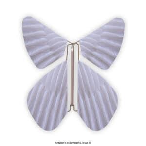 Magic Vlinder Feather Lavender copyright sendyouhappiness.com
