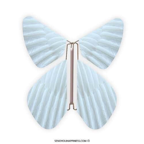 Magic Vlinder Feather Pastel Blue copyright sendyouhappiness.com