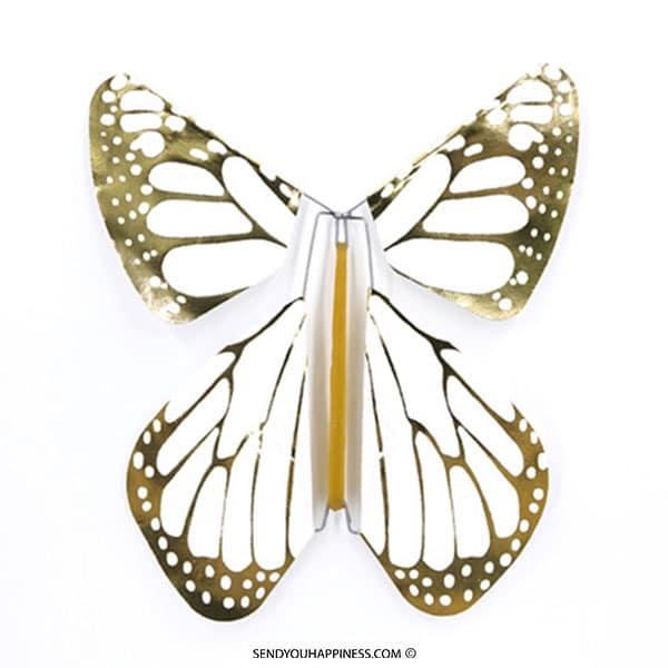 Magic Vlinder Metal Gold New Concept copyright sendyouhappiness.com