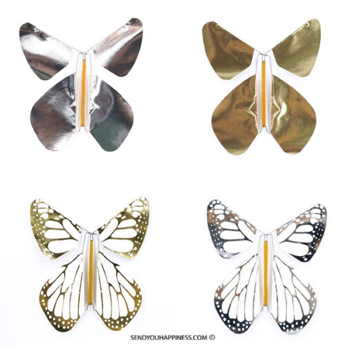 Vlinder Butterfly Metal Assortiment copyright sendyouhappiness.com