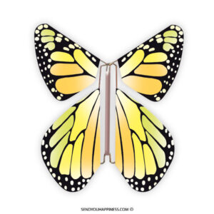 Magic Vlinder New Concept Yellow copyright sendyouhappiness.com