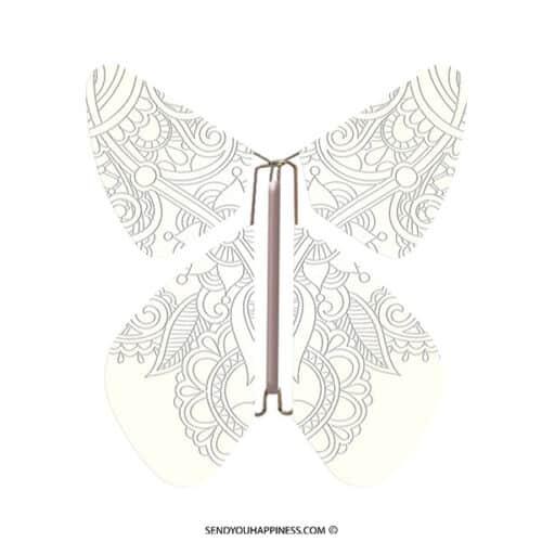 Magic Vlinder Tattoo Yellow Silver copyright sendyouhappiness.com