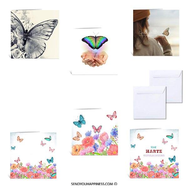 Kaartenset Butterfly Wishes