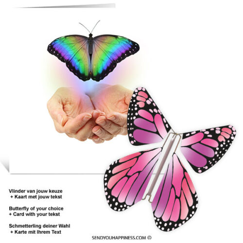 Kaart Butterfly Wishes 002 inclusief Magic Vlinder