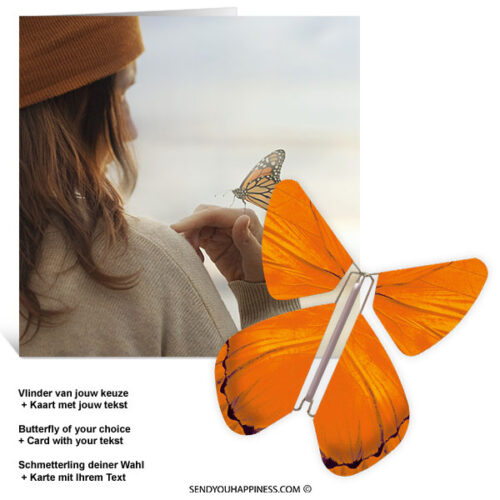 Kaart Butterfly Wishes 003 inclusief Magic Vlinder